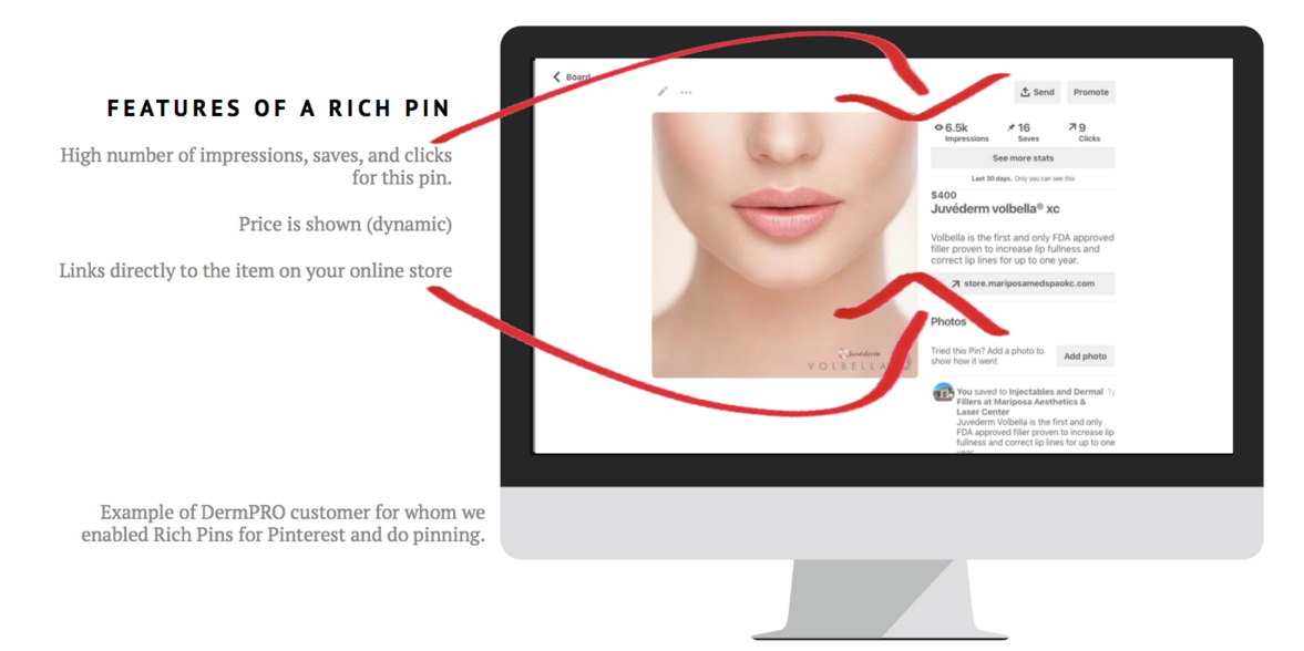 Pinterest Rich Pin Features