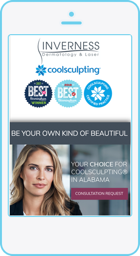 Mobile optimized CoolSculpting landing page