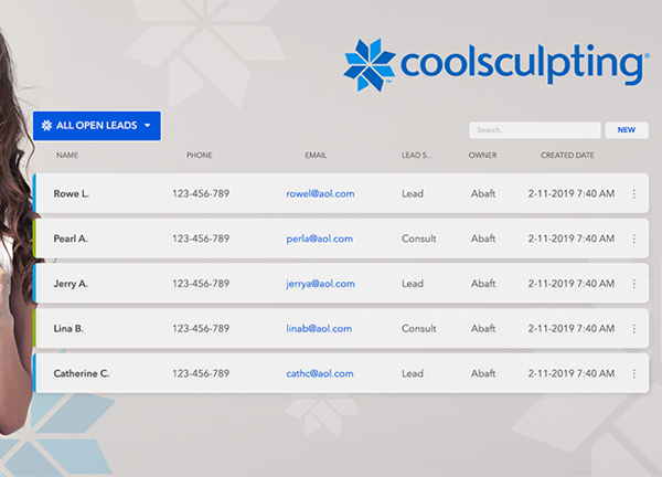 coolsculpting lead management