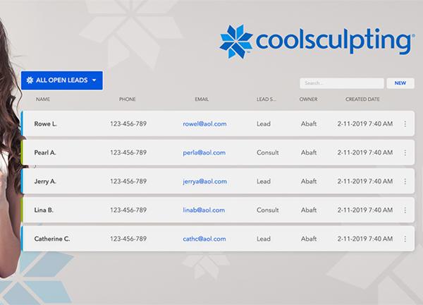 coolsculpting lead management