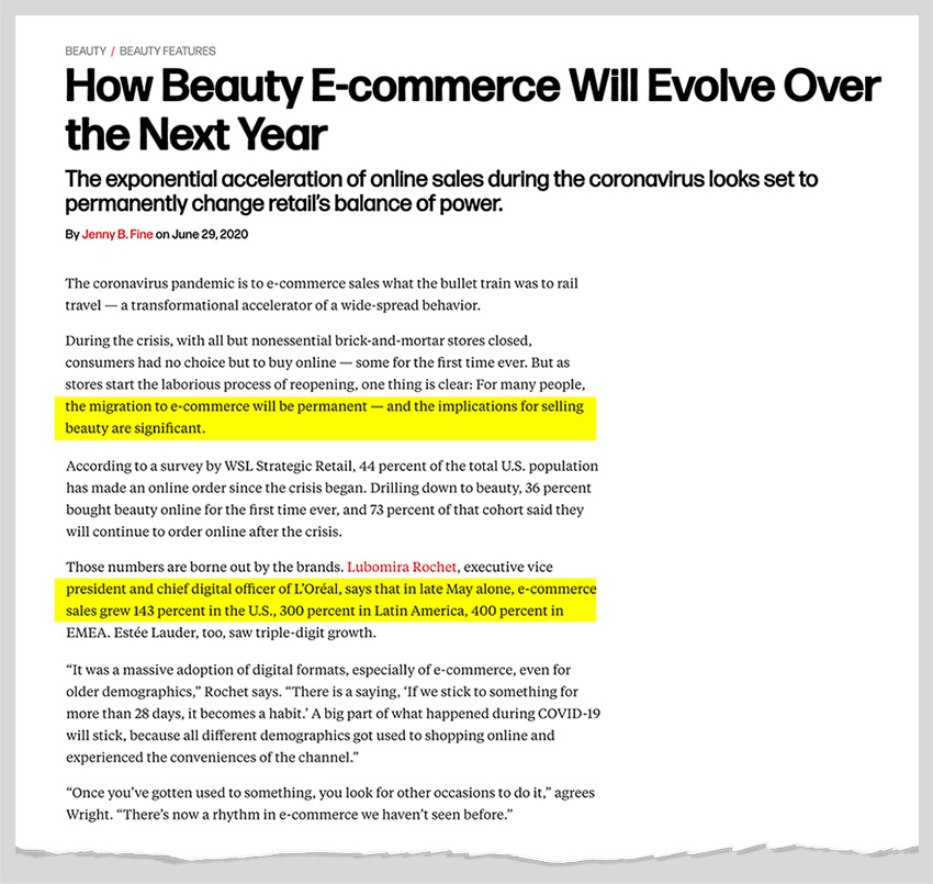 Beauty E-commerce Will Evolve Over the Next Year